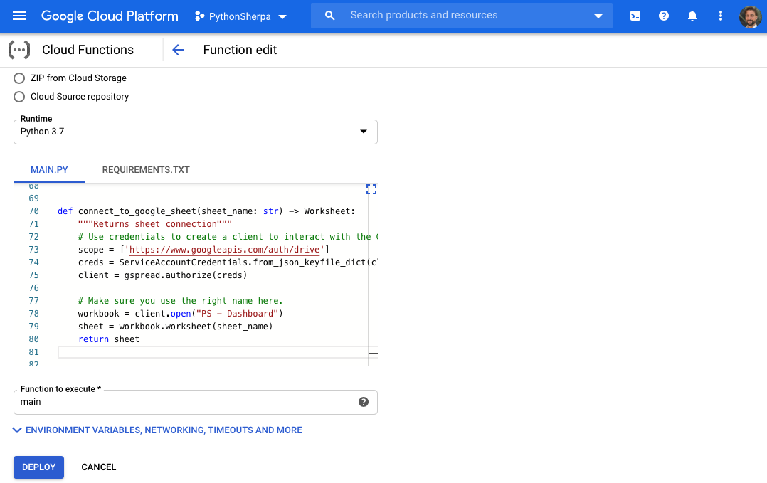 What can you do with Python? Run Google Cloud Functions!